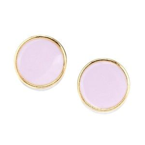 14k gold dipped round lavender earring